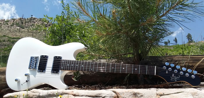 short scale guitar - White